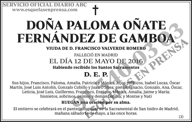 Paloma Oñate Fernández de Gamboa